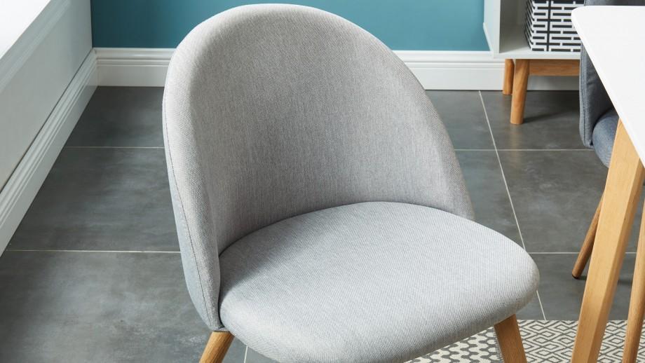 Lot de 2 chaises couleur gris clair – Collection Romy