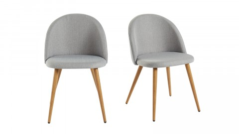 Lot de 2 chaises couleur gris clair – Collection Romy