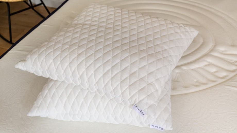 Lot de 2 oreillers à mémoire de forme 60x60 Memo Soft - Flocons de mousse mémoire de forme