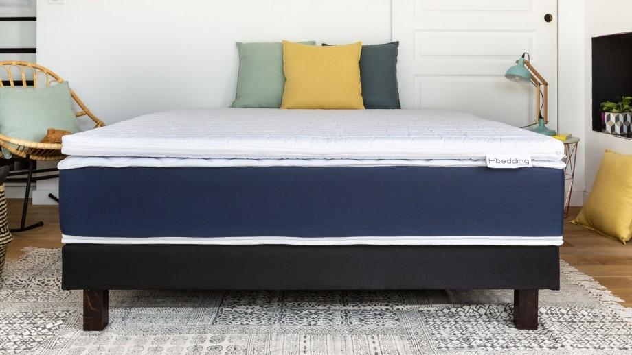 Sur matelas déhoussable 160x200 Confort Plus Hbedding - Mousse polyuréthane