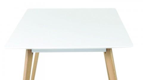 Følke - Table à manger Scandinave 6 personnes avec pieds en chêne massif.