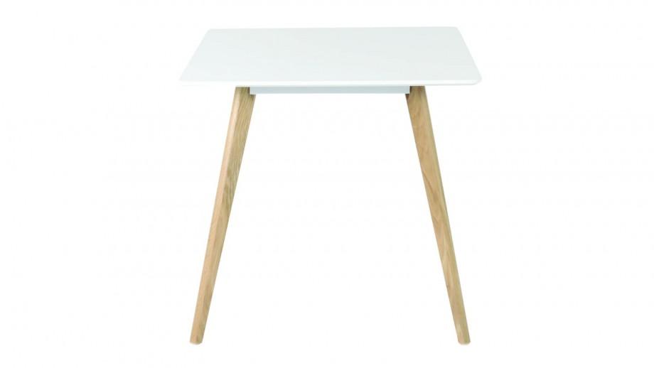 Følke - Table à manger carrée 80 cm avec pieds en chêne massif