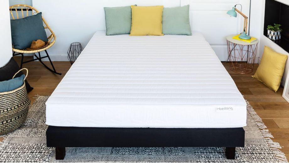 Ensemble matelas mousse haute densité + sommier 160x200 Confort Zen Hbedding - Coutil microfibre déhoussable