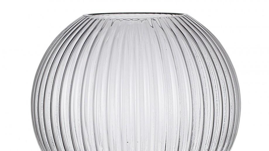 Vase en verre et socle doré - Bloomingville