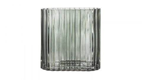 Vase rond en verre vert - Bloomingville