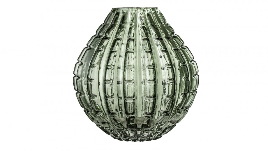 Vase allongé en verre vert - Bloomingville