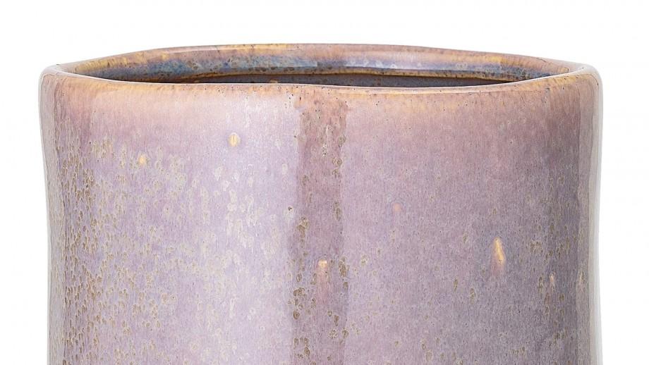 Pot de fleurs rond en grès marron - Bloomingville