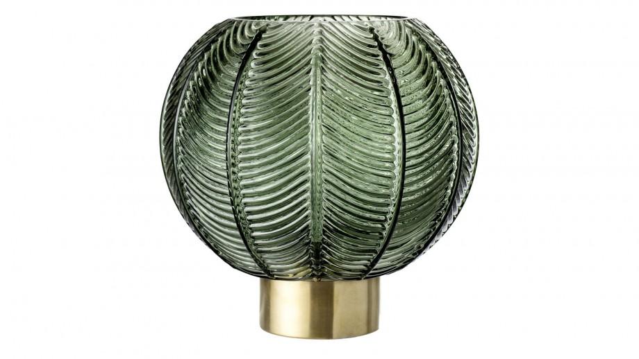 Vase en verre vert et doré - Bloomingville