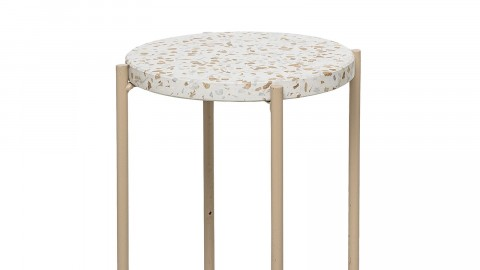 Petite table d'appoint en béton et métal - Collection Earth - Bloomingville