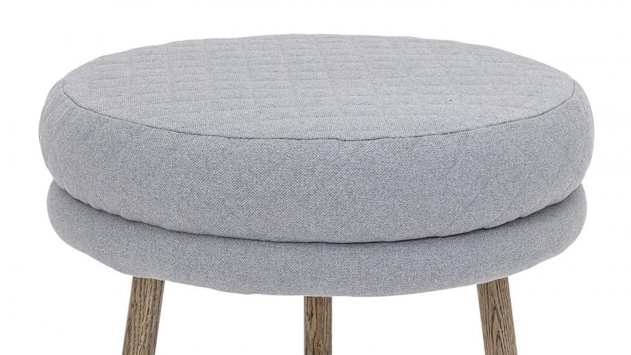 Tabouret en tissu gris clair - Collection Kind - Bloomingville