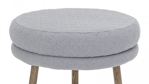Tabouret en tissu gris clair - Collection Kind - Bloomingville
