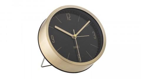 Horloge de table en aluminium doré et fond noir - Bloogmingville