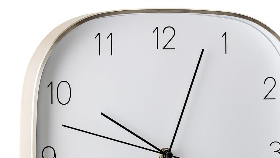 Horloge murale dorée fond blanc - Bloomingville