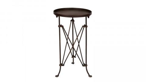 Petite table d'appoint en métal noir piètement croisé - Collection Terrain - Bloomingville