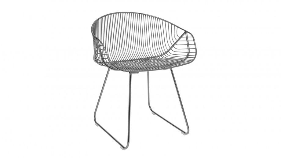 Lot de deux chaises en métal gris - Collection River Lounge - Bloomingville