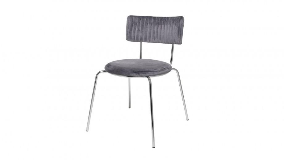 Lot de deux chaises en velours gris - Collection Wave Dinning - Bloomingville