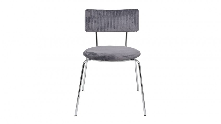 Lot de deux chaises en velours gris - Collection Wave Dinning - Bloomingville