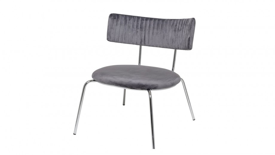 Lot de deux chaises en velours gris - Collection Wave Lounge - Bloomingville