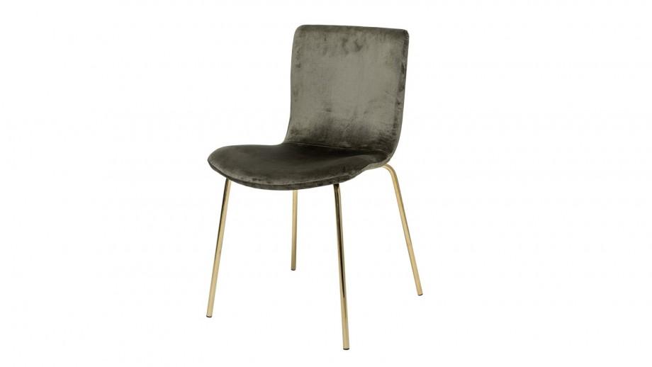 Lot de deux chaises en velours vert et métal doré - Collection Bloom Dining - Bloomingville