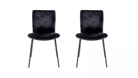 Lot de deux chaises en velours noir - Collection Bloom Dining - Bloomingville