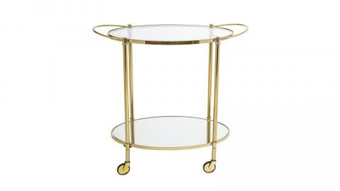 Desserte à roulettes en verre et métal doré - Collection Fine - Bloomingville