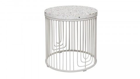 Petite table d'appoint en pierre et métal - Collection Cap - Bloomingville