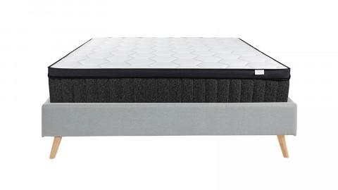 Ensemble lit Visby 160x200 gris clair + matelas mémoire de forme Memo Royal 160x200 Hbedding