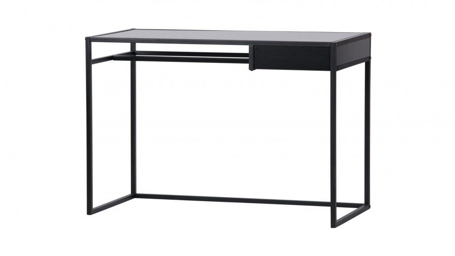 Bureau 1 tiroir en métal noir - Collection Teun Woood