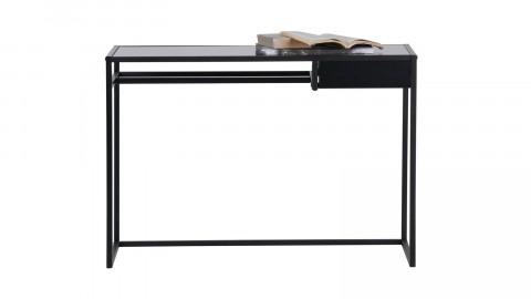 Bureau 1 tiroir en métal noir - Teun Woood