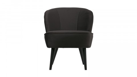 Fauteuil en velours anthracite - Collection Sara - Woood