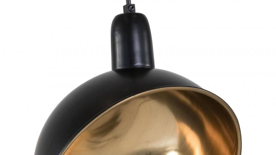 Jønas - Suspension métal noir et cuivre, style Industriel, 31 cm
