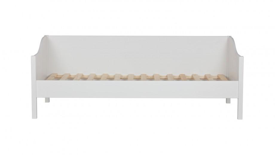 Lit canapé 1 place en pin blanc - Collection Eliza - Woood