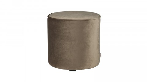Pouf haut rond en velours or olive - Collection Sara - Woood