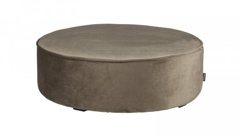 Pouf rond XL bas en velours or olive - Collection Sara - Woood