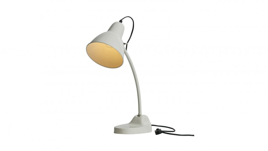 Lampe de bureau en métal blanc - Collection Masterpiece - BePureHome