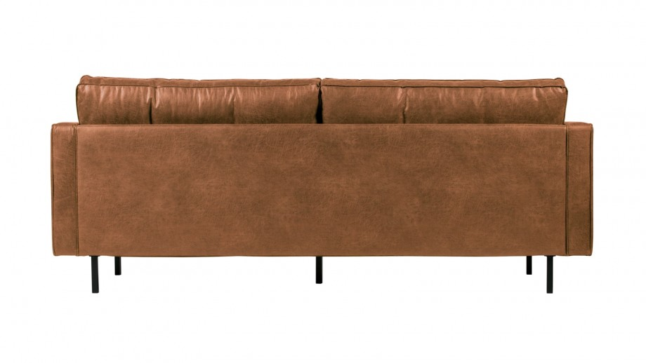 Canapé 2,5 places en cuir cognac - Collection Rodeo - BePureHome