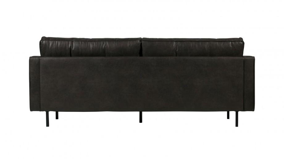 Canapé 2,5 places en cuir noir - Collection Rodeo - BePureHome