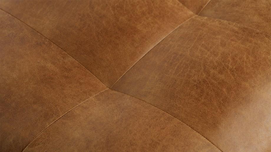 Fauteuil en cuir cognac - Collection Rodeo - BePureHome