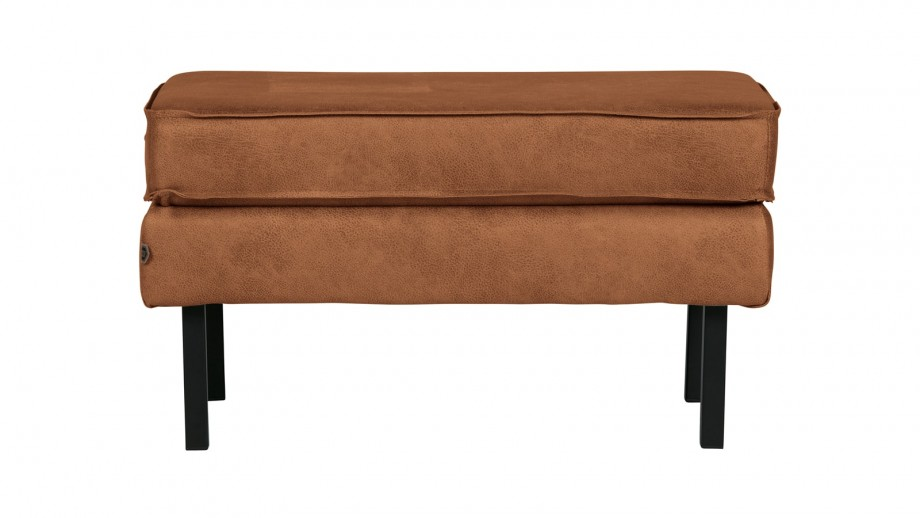 Tabouret en cuir cognac - Collection Rodeo - BePureHome