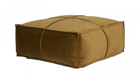 Pouf en velours jaune miel - Collection Rodeo - BePureHome