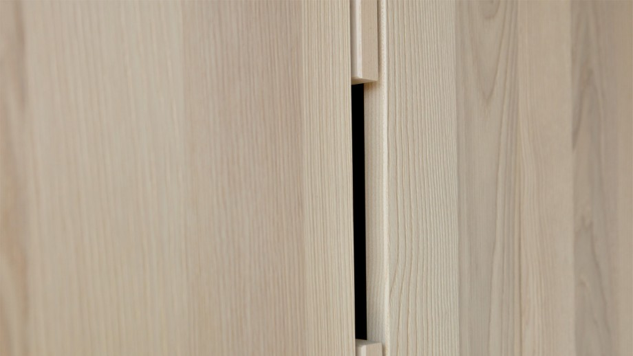 Armoire 2 portes 1 tiroir couleur cendre - Collection Silas - Woood