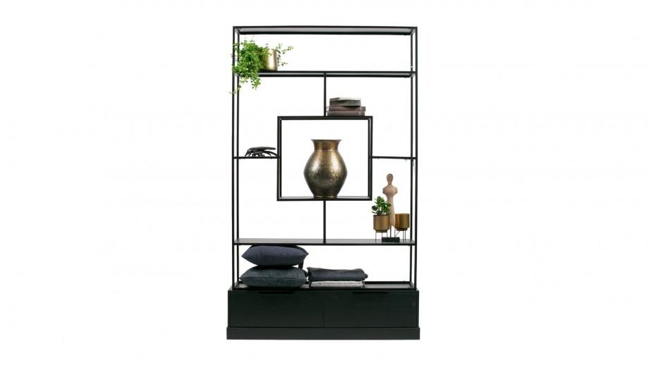 Etagère en métal et bois noir - Collection Fons - Woood