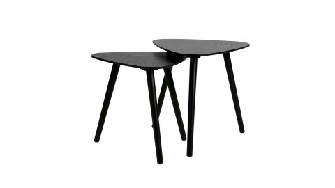 Lot de 2 tables gigognes en bois noir - Collection Nila - Woood