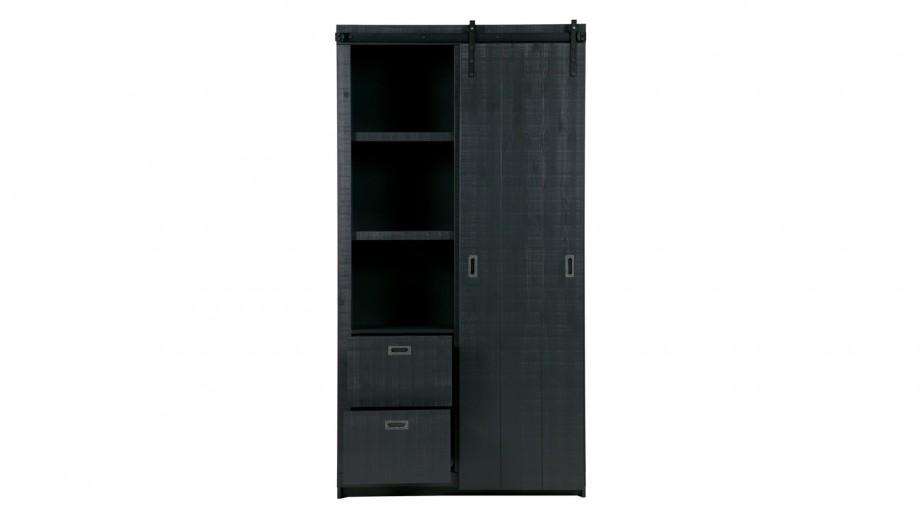 Armoire en pin massif brut noir - Collection Slide Barn -Vtwonen