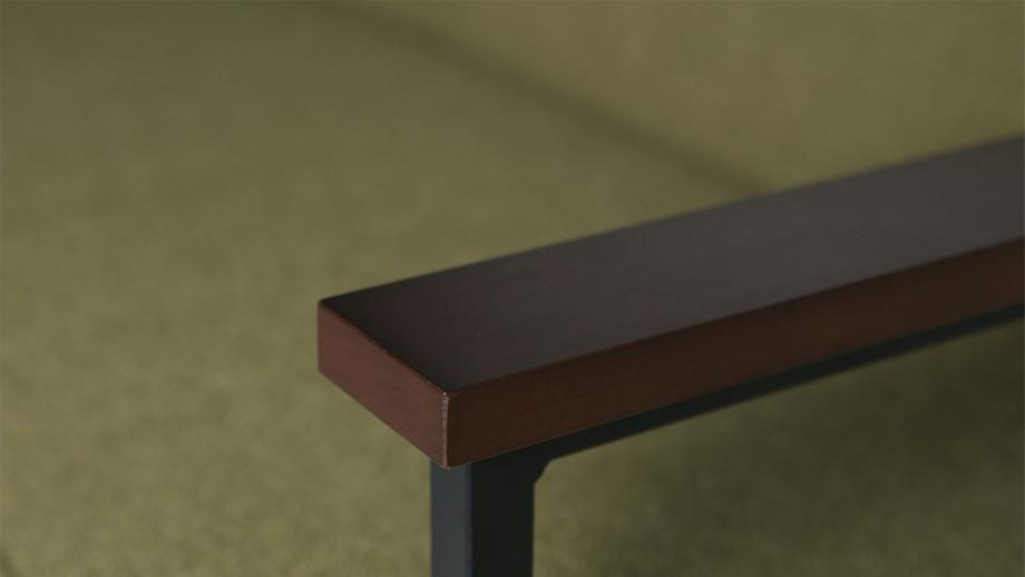 Canapé en tissu vert olive structure en bois et métal - Collection Elizabeth - Woood