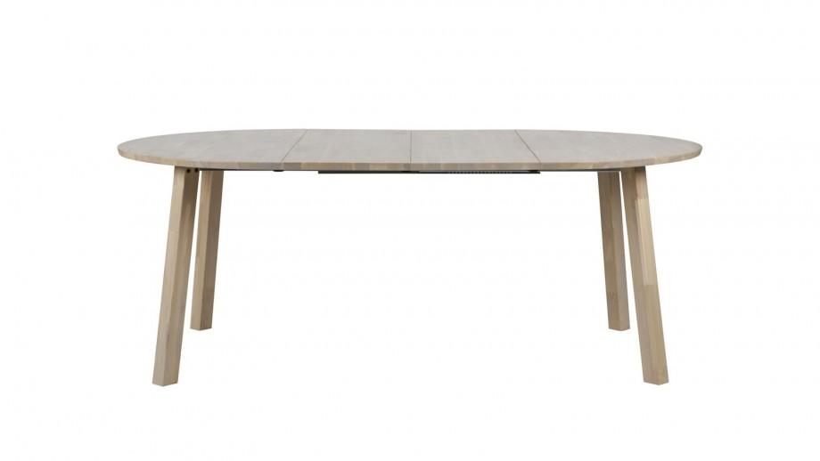 Table à manger ronde extensible en chêne - Collection Lange - Woood