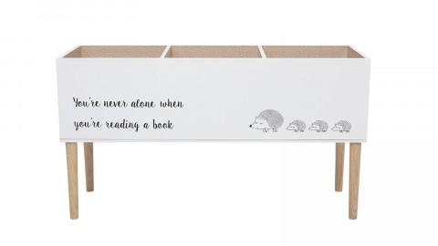 Meuble de rangement pour livres en bois blanc - Bloomingville