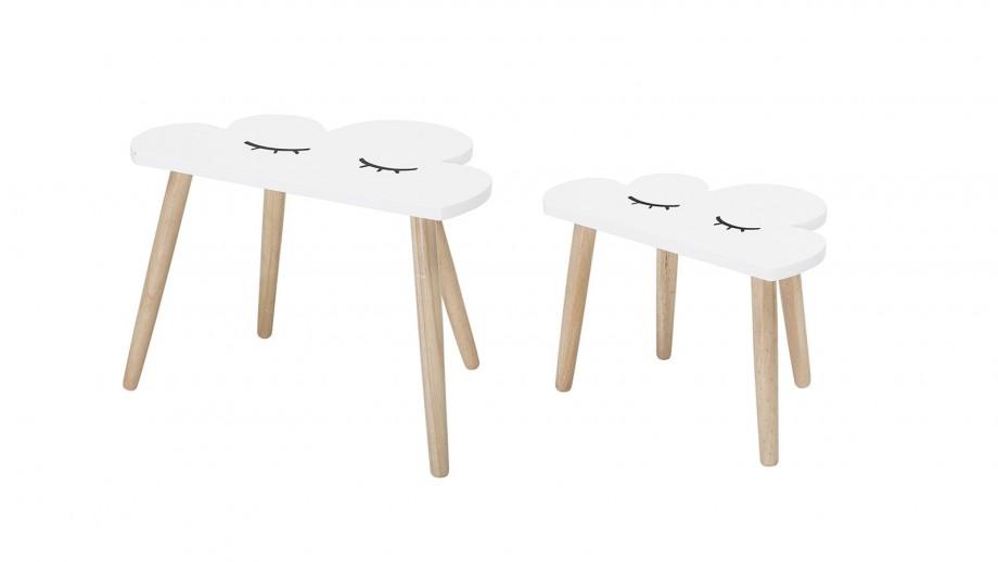 Lot de 2 tables nuages en bois blanc - Bloomingville