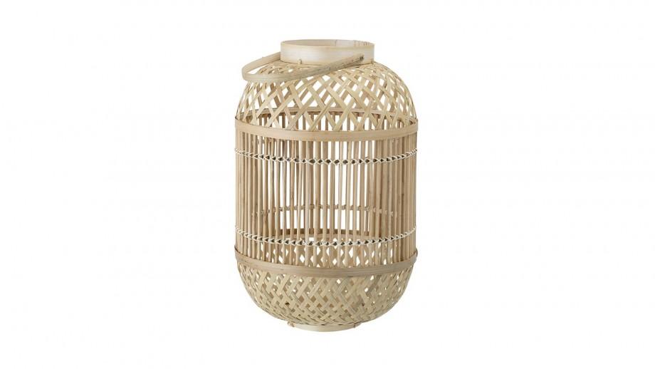 Lanterne en verre et bambou - Bloomingville