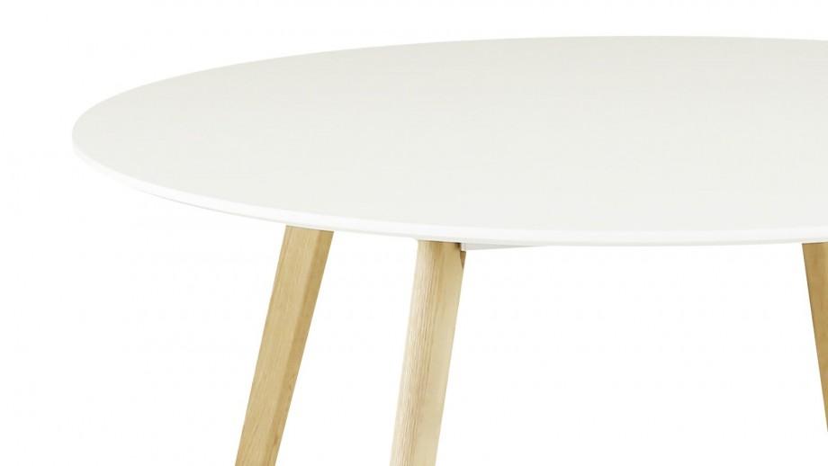 Harøld - Table à manger ronde Scandinave 120 cm avec pieds en chêne